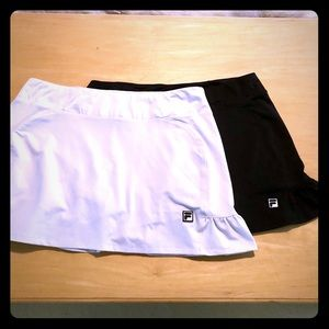 🎾 set of two Fila tennis skorts